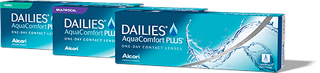photo of Dailies Aquacomfort boxes